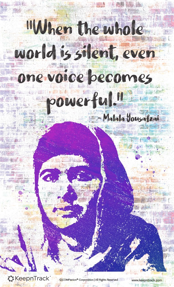 international women's day - malala yousafzai
